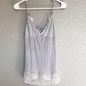 VS luxury blend lace camisole